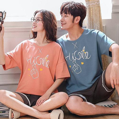Summer Home Couple Pajamas 2019 Korean