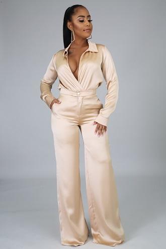 Gisele Bougie Champagne Pant Set