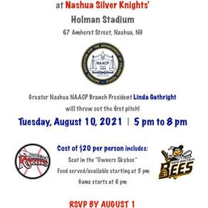 NAACP Night at Nashua Silver Knights' Holman Stadium on August 10