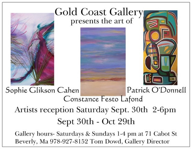 Check out Sophie's art opening reception with other artists in Beverly.  I'll provide some solo guitar music while we enjoy the art works. We hope to see you there.