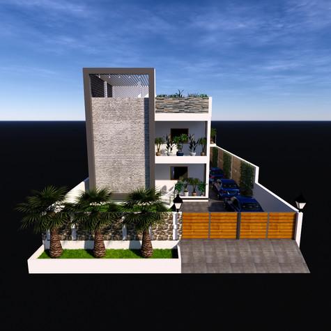 Elevation Design of Residence