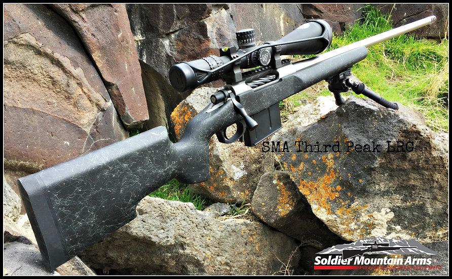 SMA Third Peak LRC .338 Lapua Magnum. Nightforce NXS 5.5-22 x 56mm