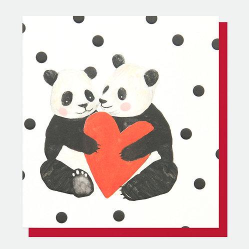 Two Pandas Card