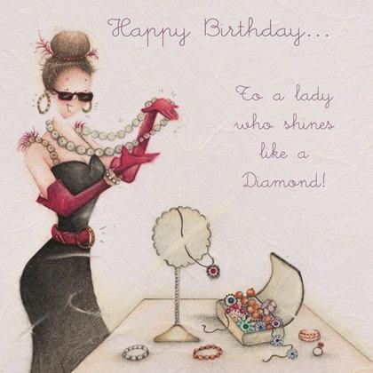 To a lady who shines like a Diamond Card