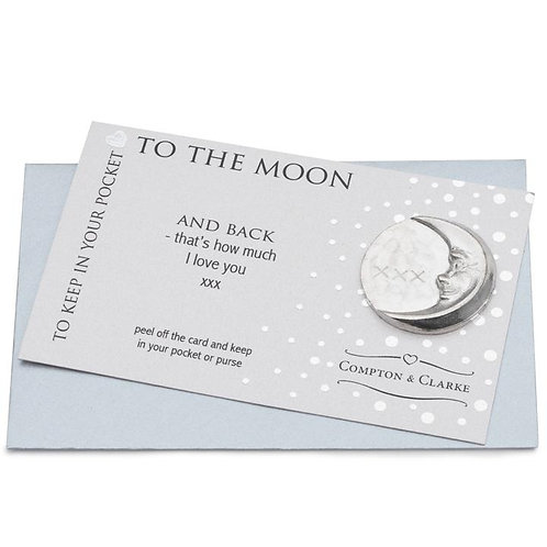 To the Moon Pocket Charm