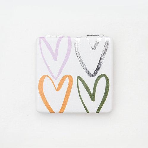 Rainbow Hearts Pocket Mirror