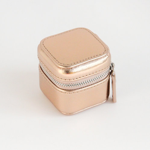Rose Gold Mini Travel Jewellery Box