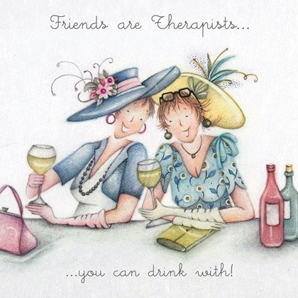 Friends are Therapists Card
