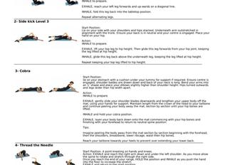 Pilates exercises for the Easter break