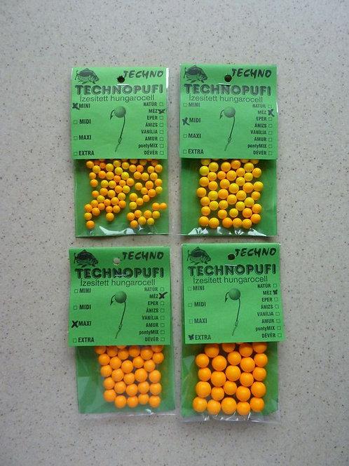Technopufi Schaum Kugel ca 3-5 mm Honig