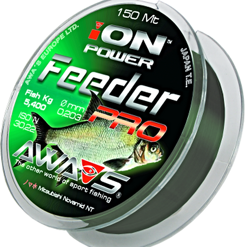 Angel monofil schnur Nylon AWA SHIMA ION POWER Feeder 150 m 0,261 mm 8,45Kg