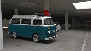 Van Garage Blue