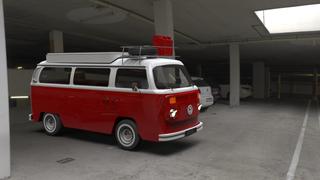 Van Garage Red