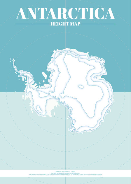 Antarctica Height Map