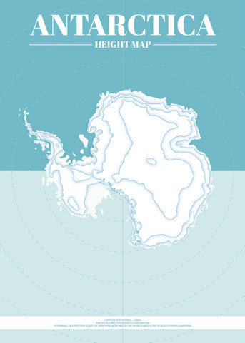 Antarctica Height Map