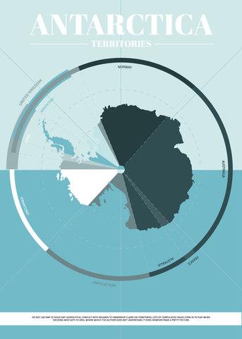 Antarctica Territory Map