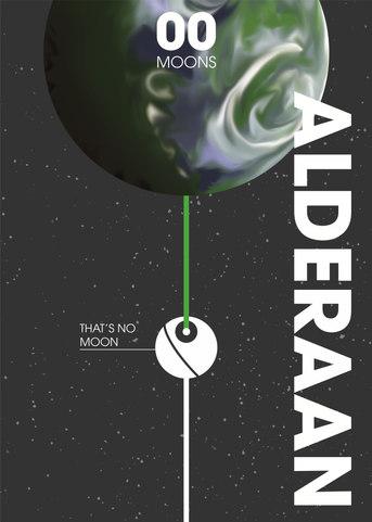 Alderaan Moon Poster
