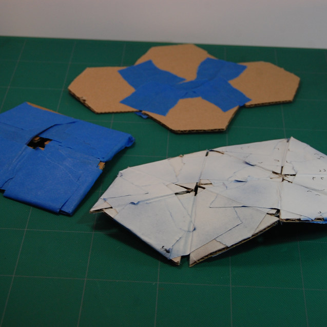 cardboard flex model