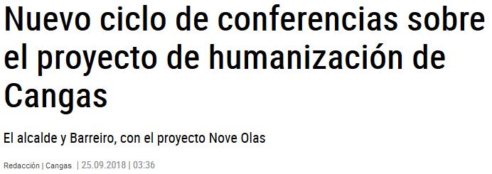 Nuevo ciclo de conferencias sobre el proyecto de humanización de Cangas