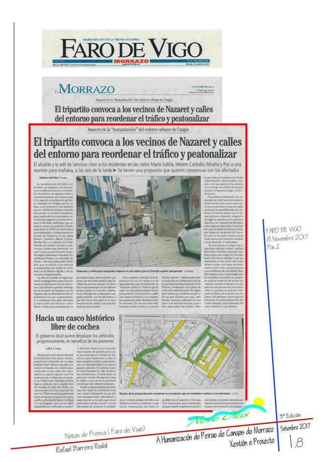 El tripartito convoca a los vecinos de Nazaret y calles del entorno para reordenar el tráfico y peatonalizar