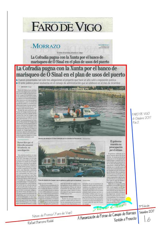 La Cofradía pugna con la Xunta por el banco de marisqueo de O Sinal en el plan de usos del puerto