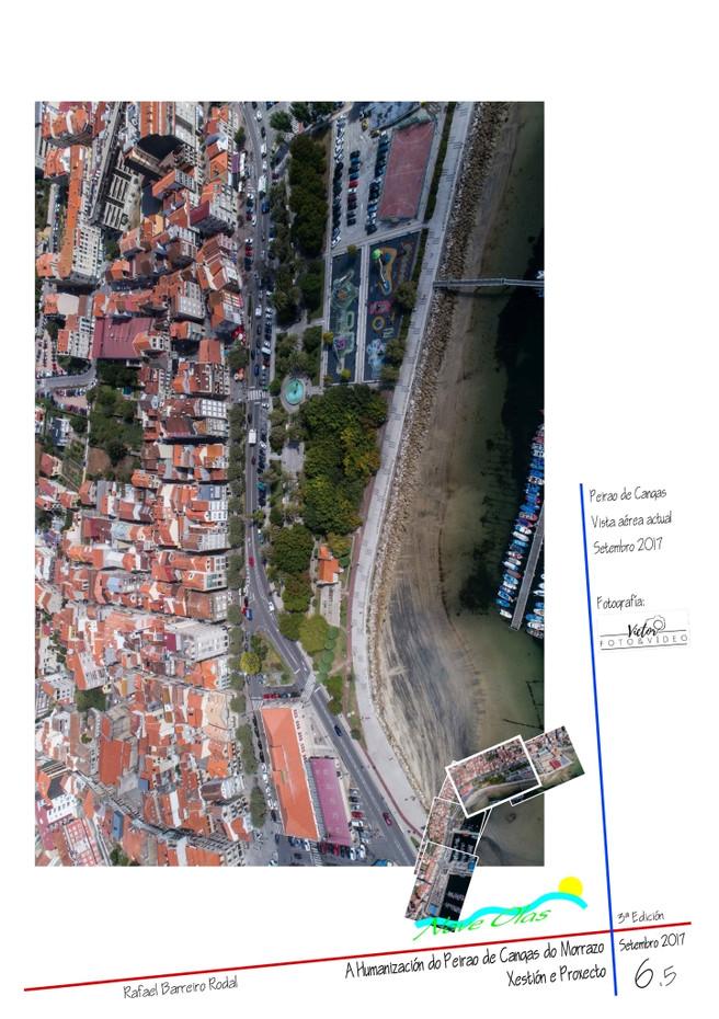 Peirao de Cangas. Vista aérea actual