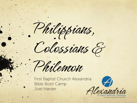 (PowerPoints) Philippians, Colossians & Philemon