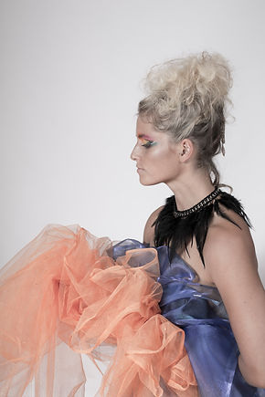 High Fashion Make-Up Colourful Blonde