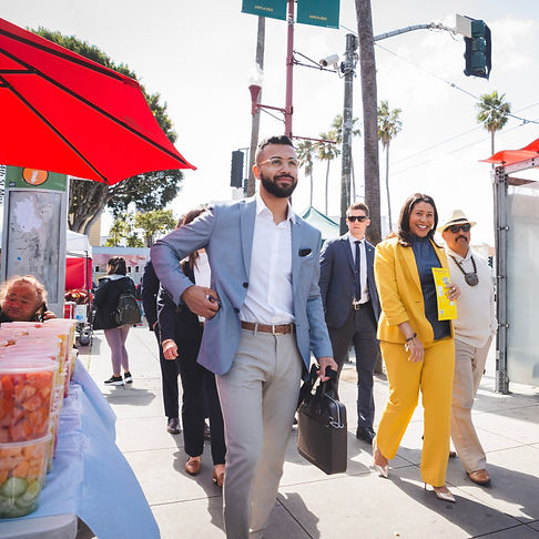 Mayor London Breed and Luis Quiroz