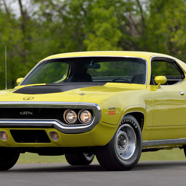 1971 Plymouth Hemi GTX. Image courtesy of Mecum Auctions.
