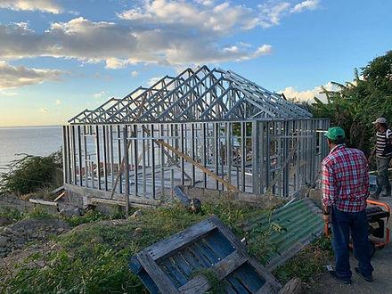 Steel Frame House - hurricane and earthquake