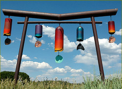 Variety of windchimes