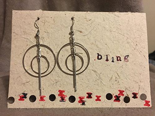 Bling Earrings & Card