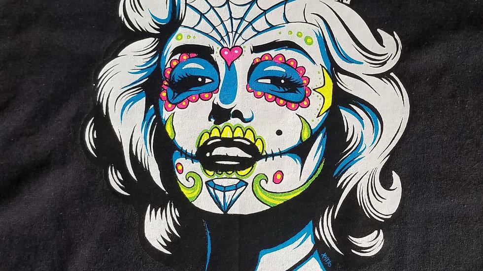 Marilyn Monroe sugar skull shirt 🤡