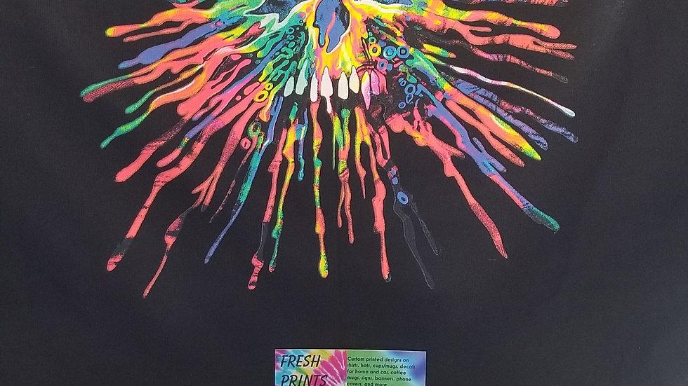 Neon splatter skull shirt