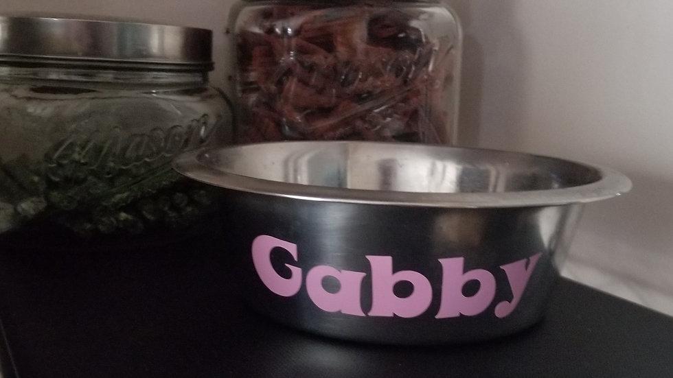 Custom dog name bowl