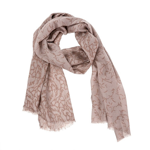 Foulard floral rose antique