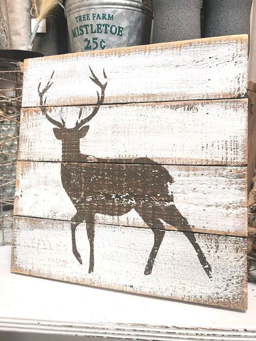 Toile sur bois «chevreuil»