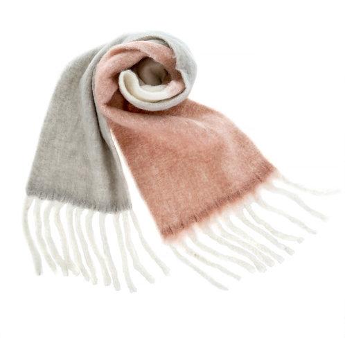 Foulard confort rose & gris