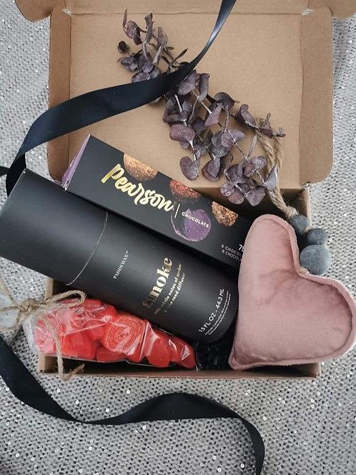 Boîte cadeaux «Velours rose»