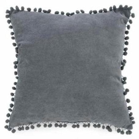 Coussin gris VELOUR