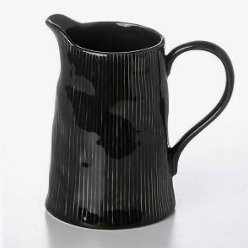 Pichet noir ligné collection RUSTIQUE