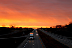 """Highway Sunset"" Laura James"