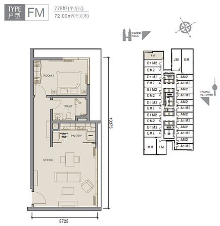 Platinum- Face- II- Type- FM- 775sqft.PN