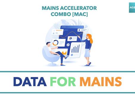 Mains Accelerator Combo [MAC]: Data for Mains