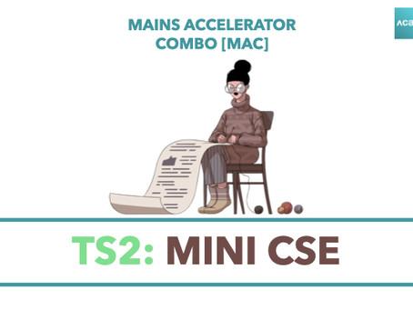 Mains Accelerator Combo [MAC]: TS2 - Mini CSE