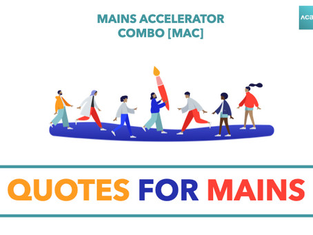 Mains Accelerator Combo [MAC] : Quotes for Mains
