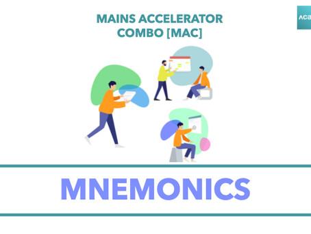 Mains Accelerator Combo [MAC] : Mnemonics