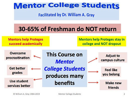 Mentor College Students Benefits