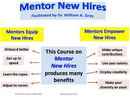 Mentor New Hires Benefits
